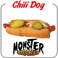 Monster Sized Chili Dog Decal