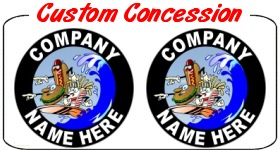 Custom Conesssion Truck Decals