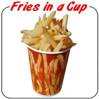 French Fries in a Cup Decal