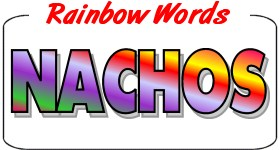 Rainbow Wording Decals